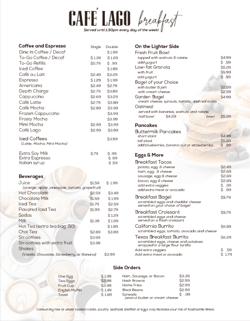 Cafe Lago Cofees and Lattes